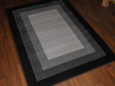 Modern Approx 6x4ft 120x170cm Woven Backed Rugs Sale Top Quality Grey/Black